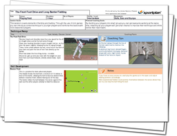 Cricket Lesson Plan: The Front Foot Drive and Long Barrier Fielding